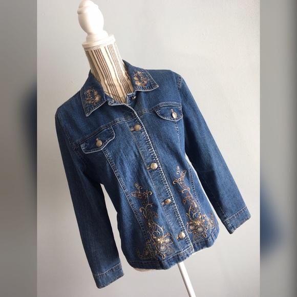 Willow bay vintage embroidered denim jacket