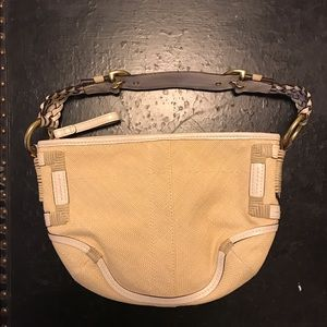 Coach cream colored purse