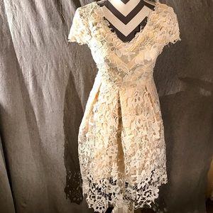 Sweet Ivory Lace Dress Never worn, NWOT! Sz M/L