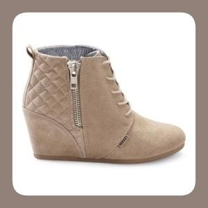 BONGO Shoes - Bongo Taupe Kedzie Wedge Shoes
