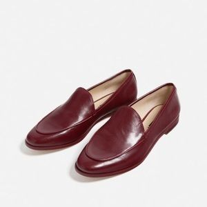 Zara burgundy loafers-- size 7.5