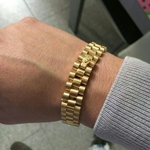 Rolex Other - 24K Gold Plated Rolex Style Bracelet