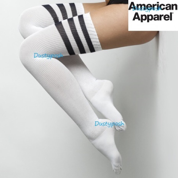 3c473638c47 American Apparel Thigh High Socks Over The Knee