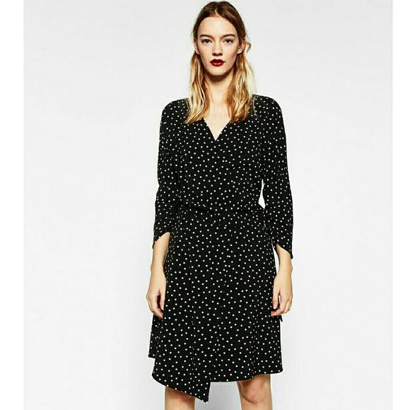 9e7bfe5d Zara Dresses   Crossover Polka Dot Dress Xs   Poshmark