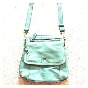 Fossil Handbags - 🗝Fossil 1954 75082 green leather cross body cute
