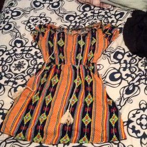 Aztec summer mini dress small