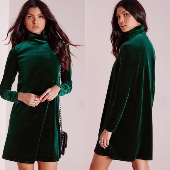 f006477221be Missguided Dresses | Green Velvet Swing Dress | Poshmark
