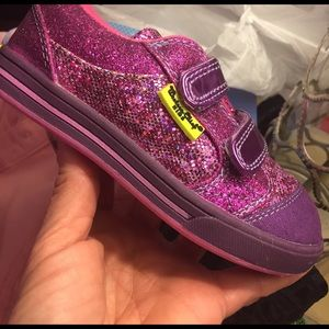 Western Chief Other - Lil girls sz 10 purple sparkle shoes western chief