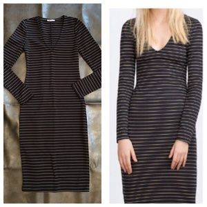 Zara striped form fitting dress.