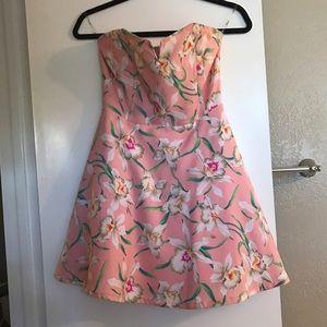 PEACH Floral circle dress