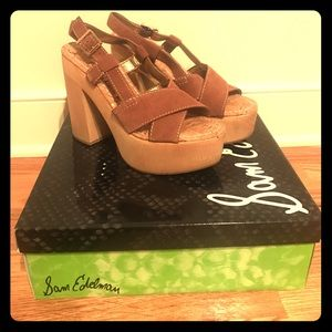New in Box Sam Edelman Platform Heels 7.5