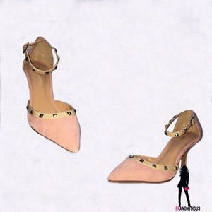 Sole Society Shoes - Pink Suede D'orsay Pumps 37