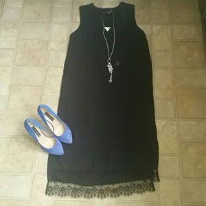****NWT Who What Wear size M black dress