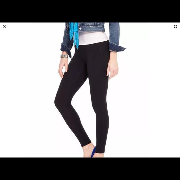 cdd359be762851 HUE Pants | Black Ultra Tummy Shaping Leggings Slimming | Poshmark
