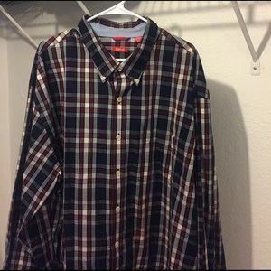 Izod Other - Mens Izod Navy Plaid shirt long sleeve 3xl xxxl