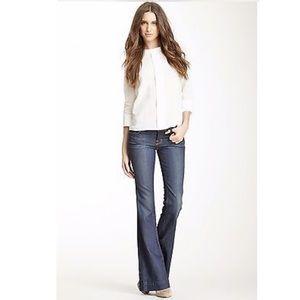 J Brand Denim - J Brand Lovestory Flare Jeans in Blue Bayou Wash