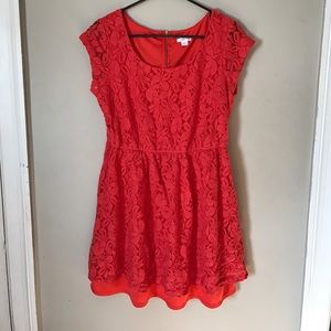 Xhilaration coral lace dress size XL