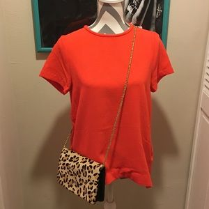• NWOT Orange High-Low Tunic Top Blouse •