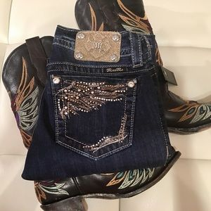 Dazzling Blinged Bootcut Miss Me ~ PoshFest Day 1