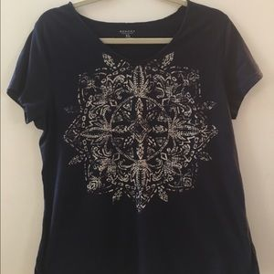 Sonoma Tops - Navy tribal t shirt
