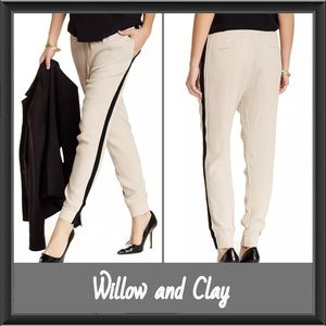 Willow & Clay Pants - WILLOW & CLAY SIDE-STRIPED JOGGER DRESS PANTS MED