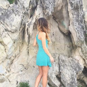 Dresses & Skirts - LAST ITEM turquoise striped dress
