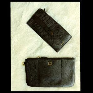 Lodis Handbags - Lodis Leather Set. Wristlet and Cardstacker. NWOT