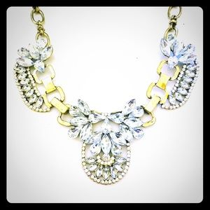 Jewelry - J Crew floral bling necklace