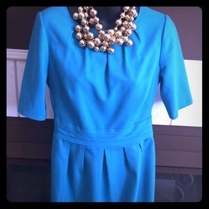 Boden Wool Dress in Turquoise