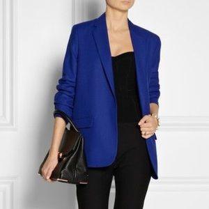 Acne Jackets & Blazers - Acne Studios || Blue Pique Boxy Boyfriend Blazer