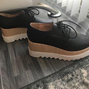 Shoes - Platform Oxford Shoes