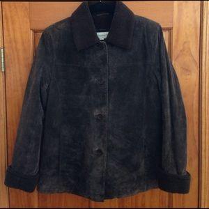 Full Leather Suede Liz Claiborne coat, size S
