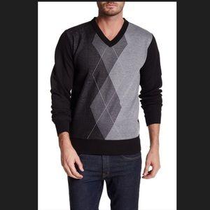 Yoki Other - Yoki Argyle V- Neck Pullover Sweater