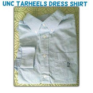 NCAA Other - UNC Tarheels blue & white pinstripe dress shirt