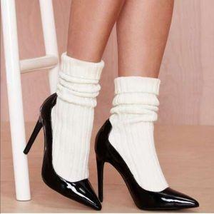 Jeffrey Campbell Pristine Leather Sock Heel