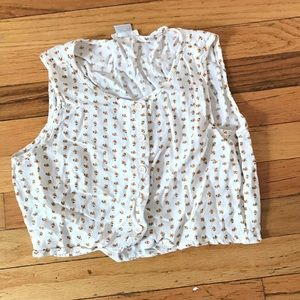 Urban Outfitters Tops - Urban Outfitters daisy button down crop top Small