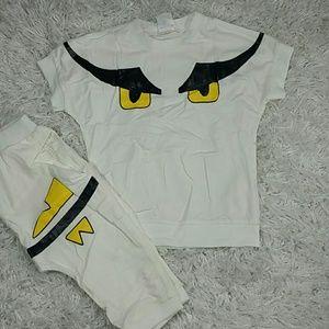 White Eyes 2 pc set.  Kids :)