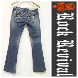Rock Revival Denim - Rock Revival Liberty Easy Boot Distressed Jeans