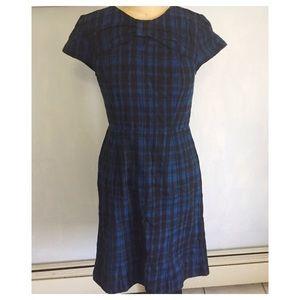 Bow Indie Plaid Dress