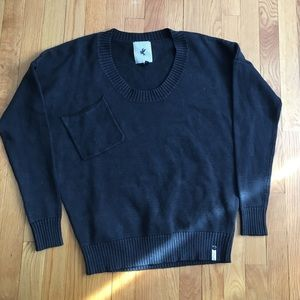 One Teaspoon black sweater with pocket