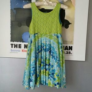 emily west Other - Girls-Green and Blue floral dress