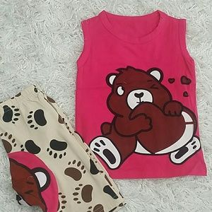Other - 🆕Pink Big Heart Teddy 2 pc set. Kids