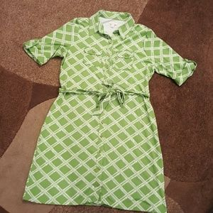 Charter Club Dresses & Skirts - Charter Club Green Bamboo patterned dress