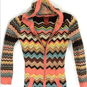 Missoni Jackets & Blazers - Missoni Target Jacket Chevron Zig Zag Zip Hoodie M