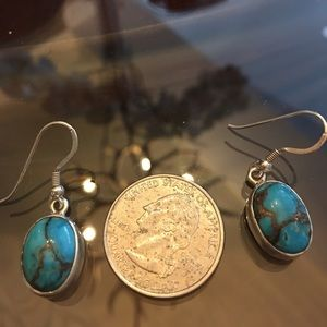 SS Turquoise post earrings