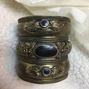 Jewelry - Boho Cuff Bracelet  Bronze & Black