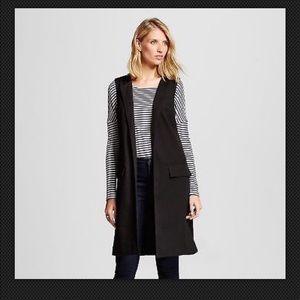 Merona Jackets & Blazers - Women's Merona Longline Sleeveless Black Blazer