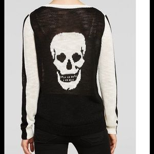 Aqua Tops - Bloomingdales Aqua Heart Eye Skull Knit Sweater