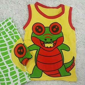 Other - 🆕Green Happy Eligator 2 pc set. Kids