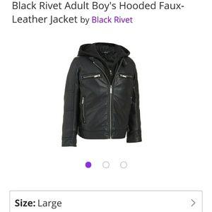 Black Rivet Other - LIKE NEW BLACK RIVET JACKET SIZE L ADULT BOY